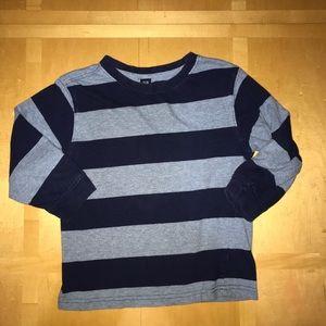 Gap Navy & Light Blue Striped Long Sleeve Shirt
